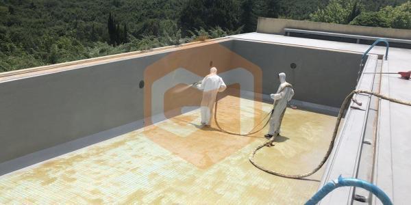 püskürtme havuz su izolasyonu uygulaması