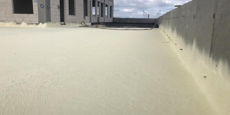 açık teras çatı poliüretan köpük izolasyonu